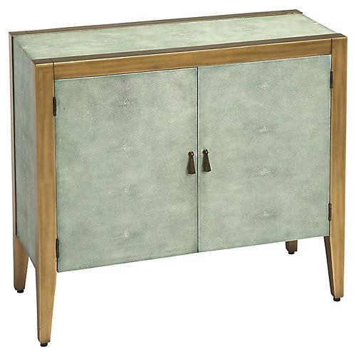 Hayden 2-Drawer Bar Cabinet, Blue