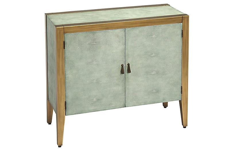 Hayden 2-Drawer Bar Cabinet - Blue