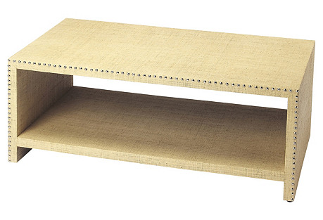 Kerry Raffia Coffee Table, Cream