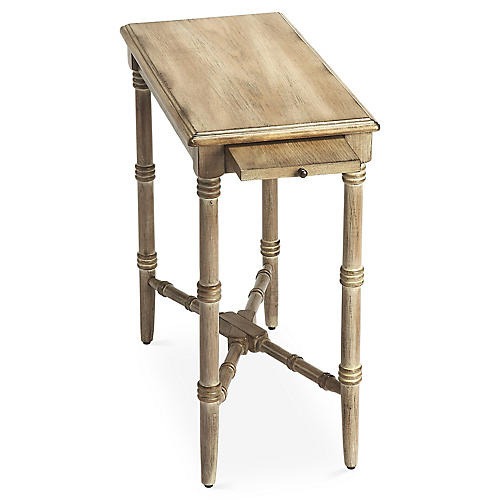 Madison Side Table w/ Tray, Driftwood