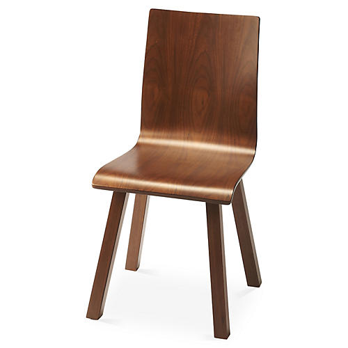 Haskell Side Chair, Walnut