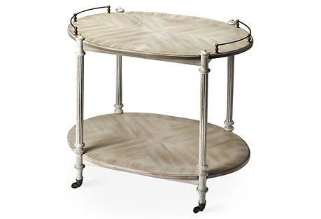 Rachel Bar Cart, Brass