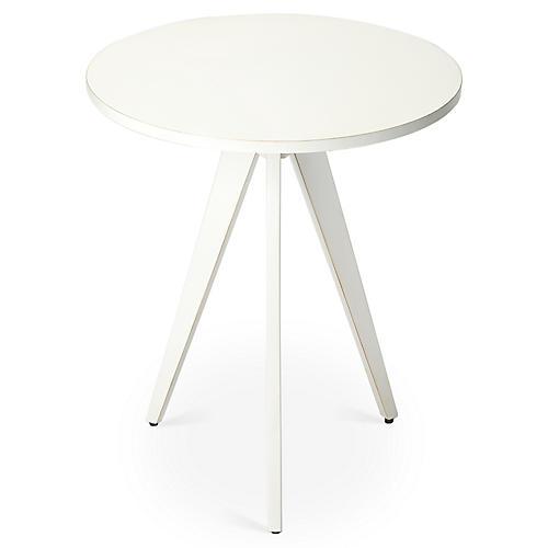 Lauren Side Table, White