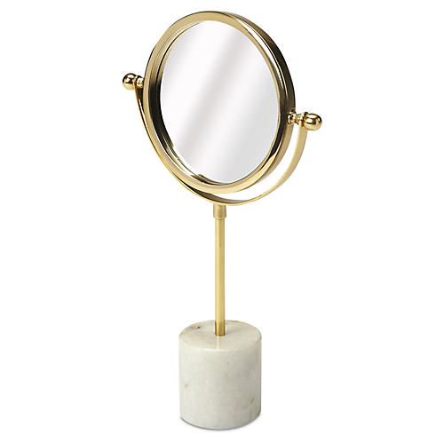 Marble Table Mirror, Gold