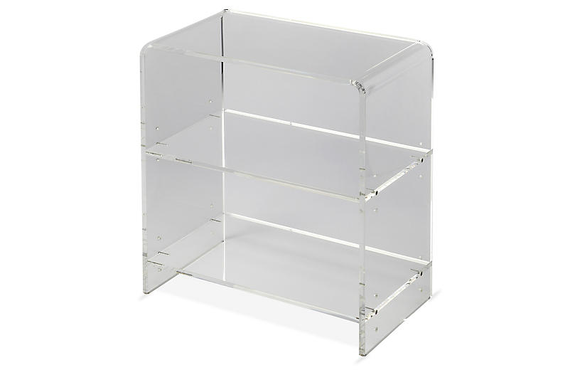 Maben Acrylic Bookcase, Clear