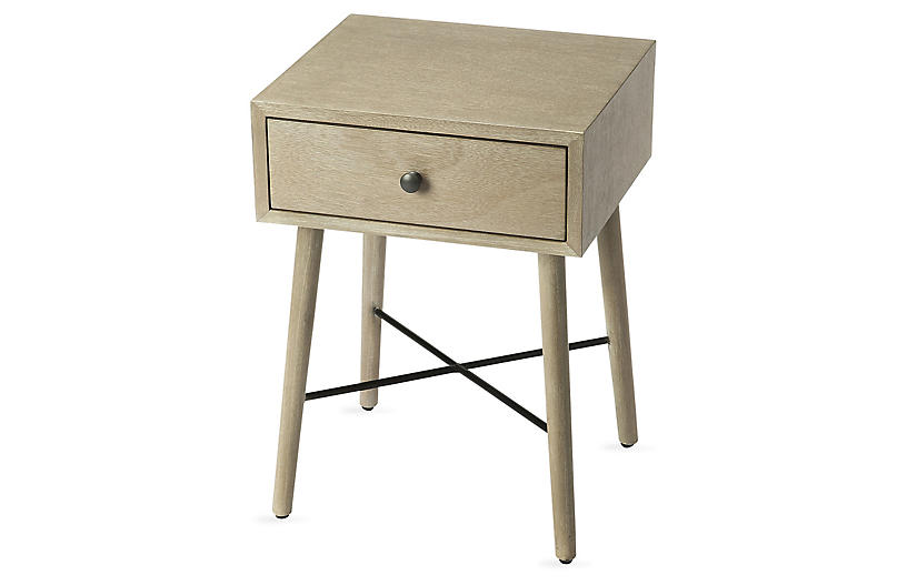 Denton Nightstand, Gray