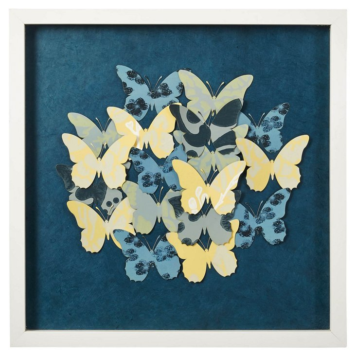 Cut Washi Paper Butterfly Collage II