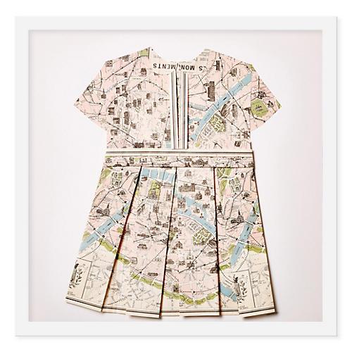 Folded Map Dress, Paris