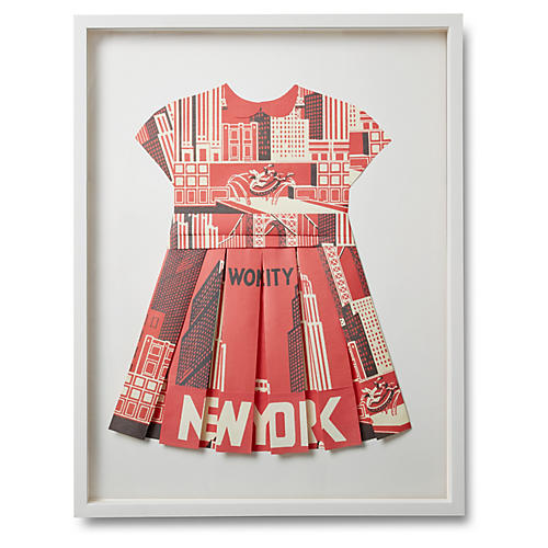 Folded Paper Dress, New York