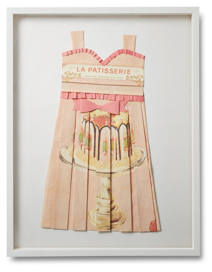 Folded Paper Dress, French Patisserie