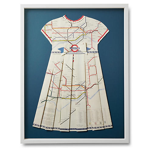 Folded Paper Dress, London Underground