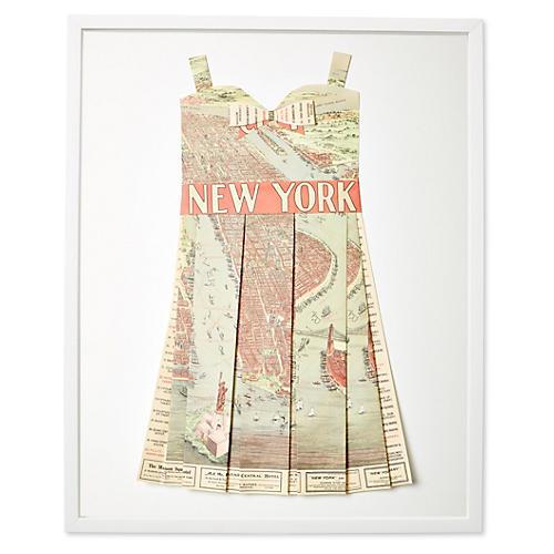 Dawn Wolfe, Original Map Dress, NY Sites