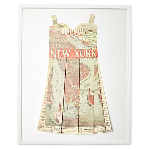 Dawn Wolfe, Original Map Dress, NY Sites