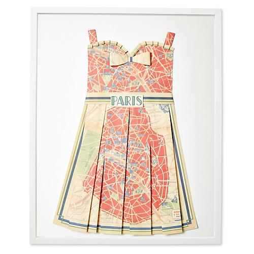 Dawn Wolfe, Original Map Dress, Paris