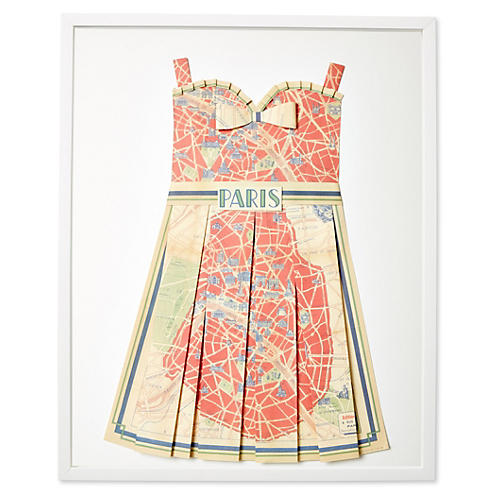 Dawn Wolfe, Original Map Dress, Paris
