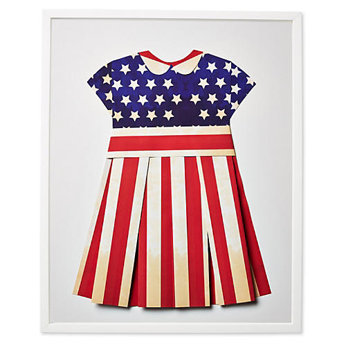 Dawn Wolfe, Flag Dress, Vintage US