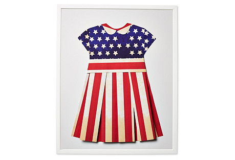 Dawn Wolfe, Flag Dress, Vintage US