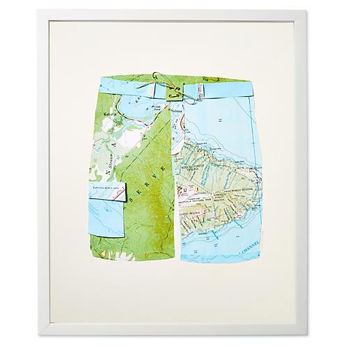 Dawn Wolfe, Map Swim Trunks: Hawaii