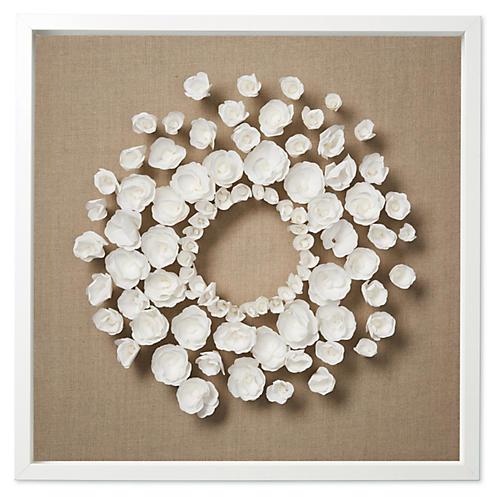 Dawn Wolfe, Flower Wreath on Flax