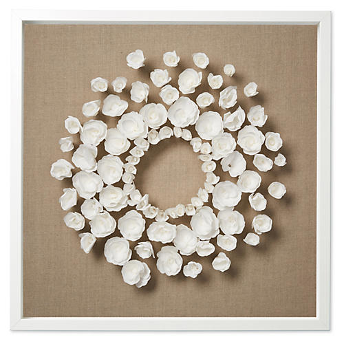 Dawn Wolfe, Flower Wreath on Flax