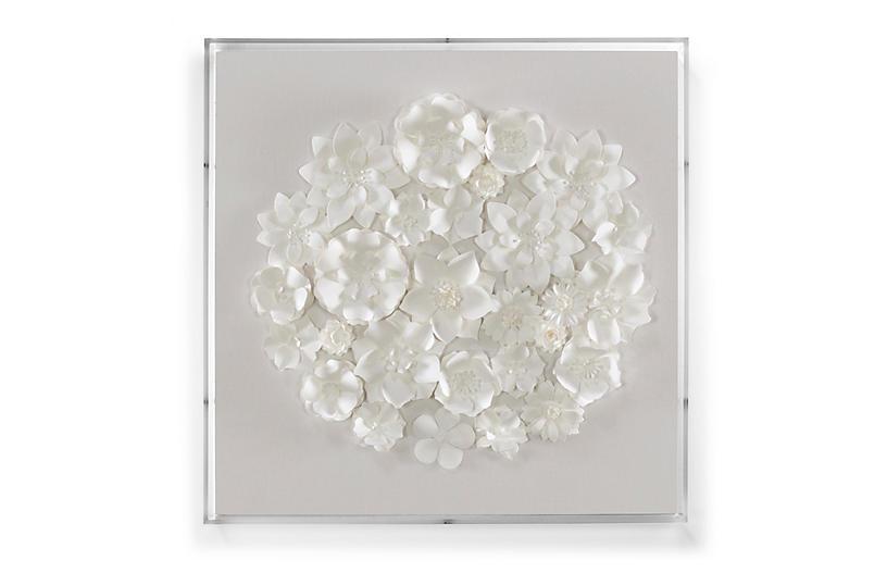 Dawn Wolfe, White Linen & Flowers