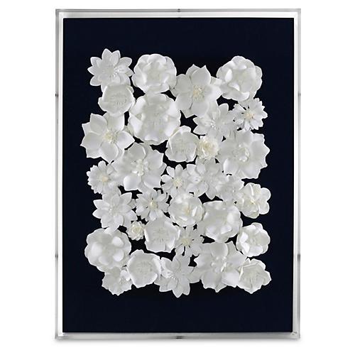 Dawn Wolfe, Flowers & Navy Linen