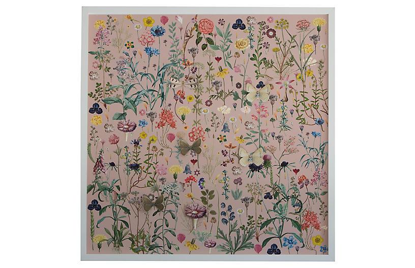 Dawn Wolfe, 3D Flower Pattern: Pink
