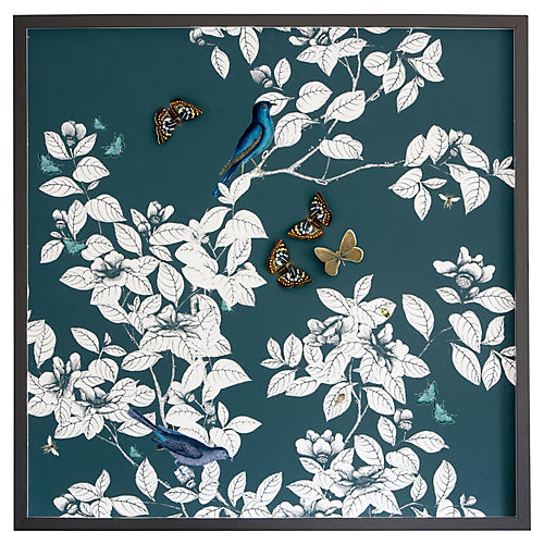 Dawn Wolfe, Dimensional Chinoiserie: Teal