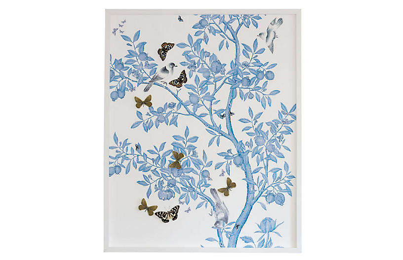 Dawn Wolfe, Dimensional Chinoiserie: Blue On White