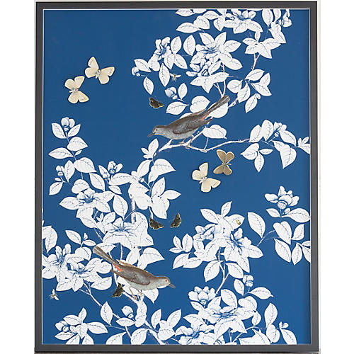 Dimensional Chinoiserie: Navy, Dawn Wolfe