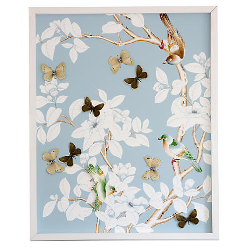 Dawn Wolfe, Dimensional Chinoiserie: Pale Blue