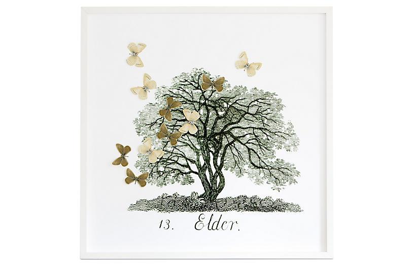 Dawn Wolfe, Tree w/Moth Cutouts: Elder