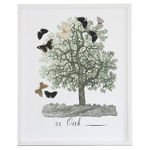 Tree w/Butterfly Cutouts: Oak, Dawn Wolfe