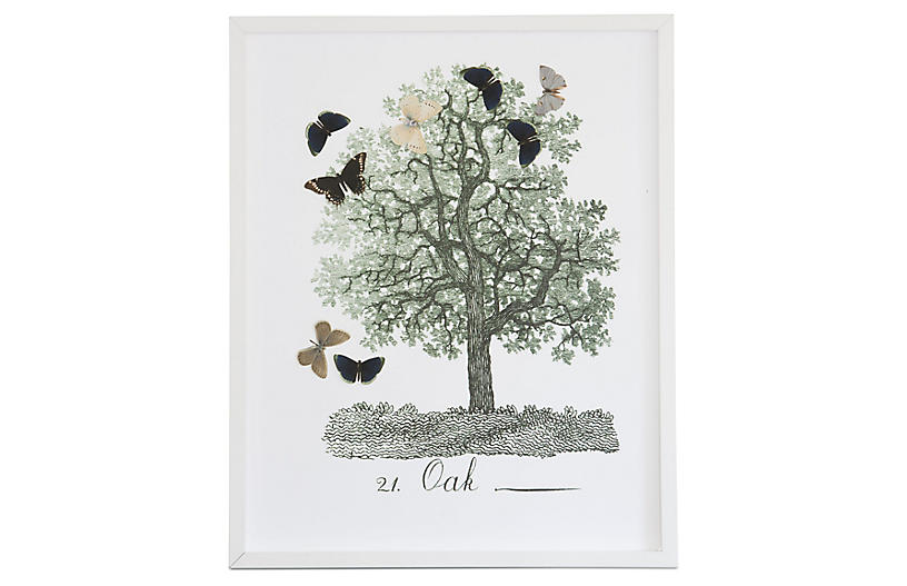 Dawn Wolfe, Tree w/Butterfly Cutouts: Oak