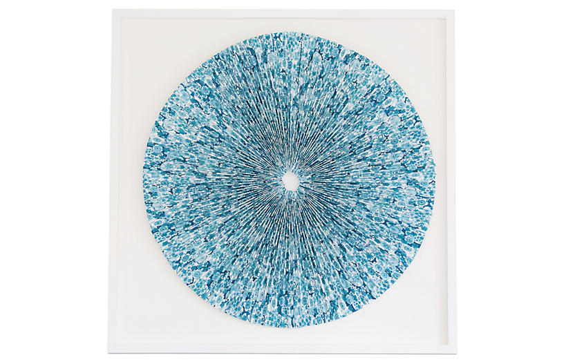 Dawn Wolfe, Pleated Turquoise Flowers
