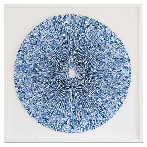 Pleated Indigo Flowers, Dawn Wolfe