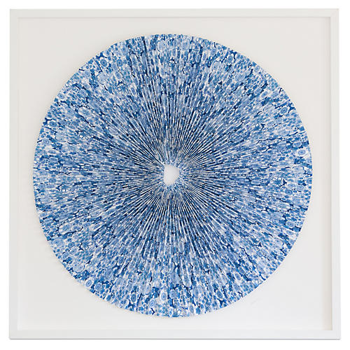 Dawn Wolfe, Pleated Indigo Flowers