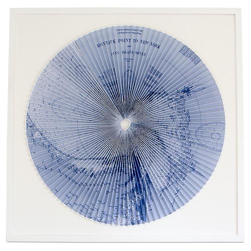 Dawn Wolfe, Pleated Map: Montauk