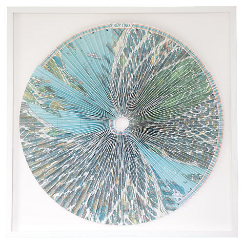 Dawn Wolfe, Pleated Map: Manhattan