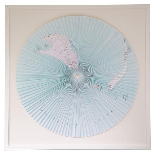 Dawn Wolfe, Pleated Map: Nantucket