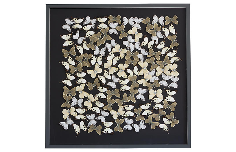 Dawn Wolfe, Dimensional Flower Pattern: Black