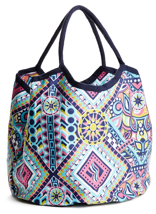 Surfside Aztec Hampton Tote, Blue