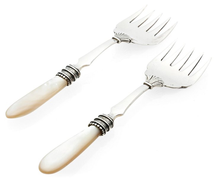 Sterling & Mother-of-Pearl Sardine Fork