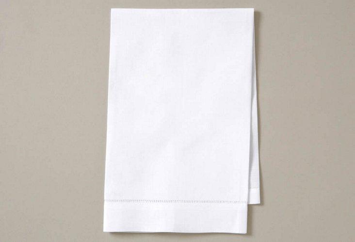 S/4 Hemstitch Linen Guest Towels