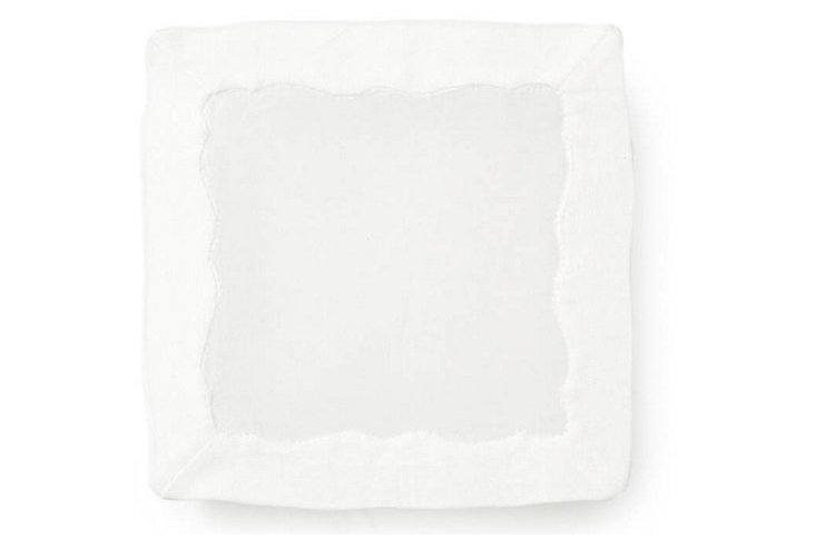 S/4 Organdy Cocktail Napkins, Square