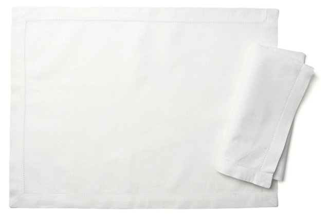 8-Pc Hemstitch Place Mat & Napkin Set