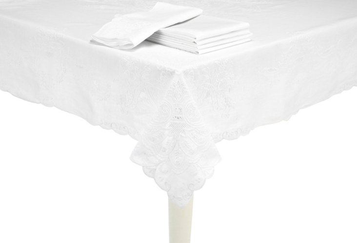 Appenzel&Cutwork Embroidered Tablecloth