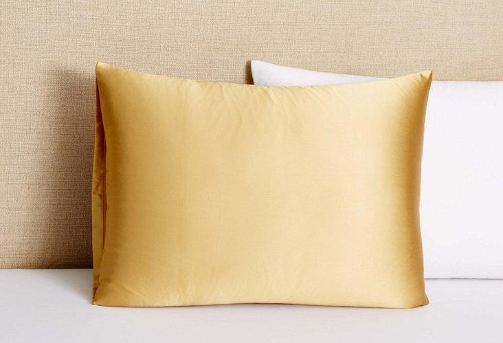 Charmeuse Silk Pillowcase, Gold