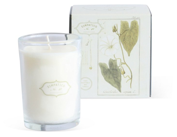 Boxed Candle, White Flower