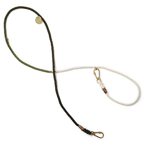 Chester Adjustable Dog Leash, Olive